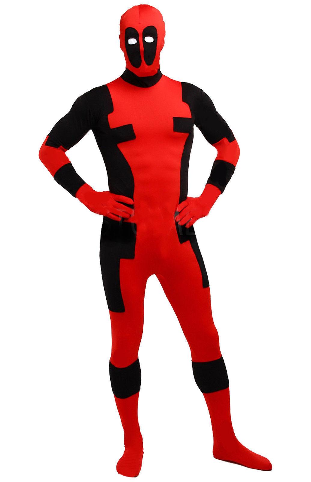 Superhero X-men Deadpool Cosplay Bodysuit Costume Jumsuit