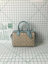 Coach F32203 Signature Mini Bennett Satchel Coated Canvas Bag in Khaki S... - £92.72 GBP