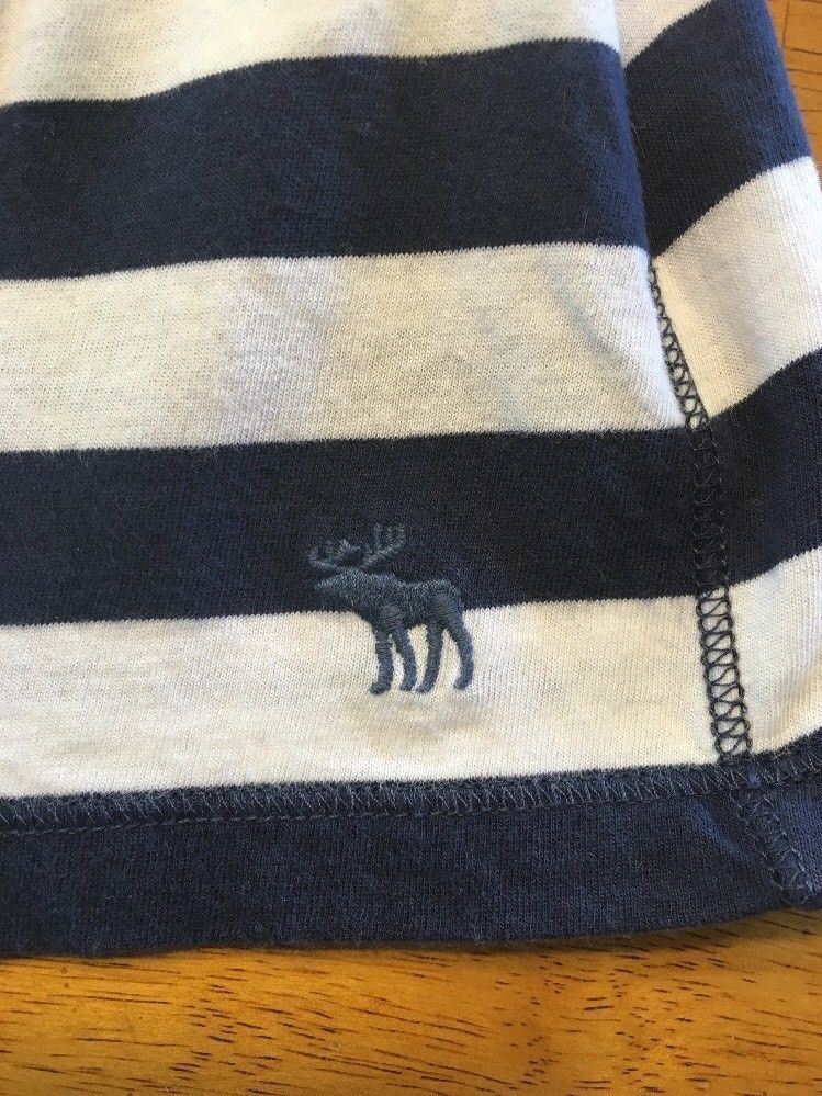 Abercrombie New York Blue & White Striped Girls Tube Top Shirt - Size: XL image 6
