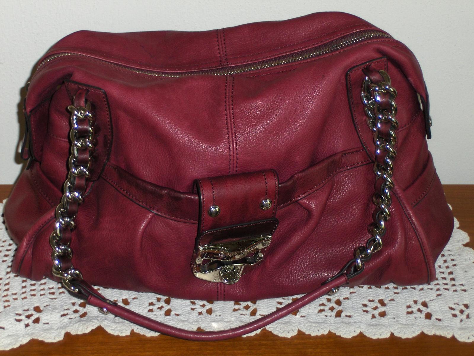 aa49681691d572 B. Makowsky Satchel Cranberry Leather and 50 similar items