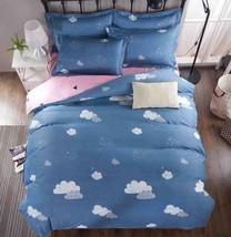 3D White Cloud Blue Pink KEP5099 Bed Pillowcases Quilt Duvet Cover Kay - $67.28+