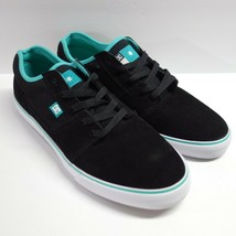 DC Tonik S Super Suede Skateboard Shoes Men's 11 Black Turquoise New w/o... - $49.99