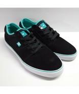 DC Tonik S Super Suede Skateboard Shoes Men's 11 Black Turquoise New w/o... - $49.99