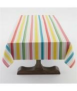 """Sunny Stripe Indoor/Outdoor 60""""W x 120""""L Tablecloth Multi Colored Stripe - $15.85"""