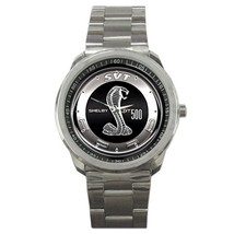 Ford Mustang Shelby GT500 Logo Custom Sport Metal Men Watch  - $15.00