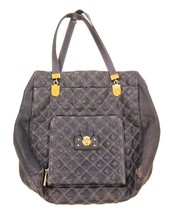 Marc Jacobs Bag - Diamond Quilted Leather Tote in Gray - Gold Hardware - $55.43