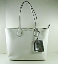 Nine West NEW $89 Tote Shoulder Bag White Caden Medium Zip Top Faux Leather X - $29.69