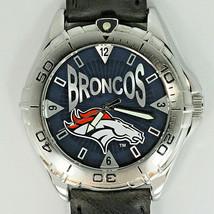 Denver Broncos NFL Watch Vintage Fossil New Unworn, Mans Black Leather Band! $98 - $96.87