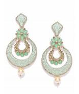 Zaveri Pearls Gold Tone Beautifully Enamelled Dangle & Drop Earring For ... - $18.23