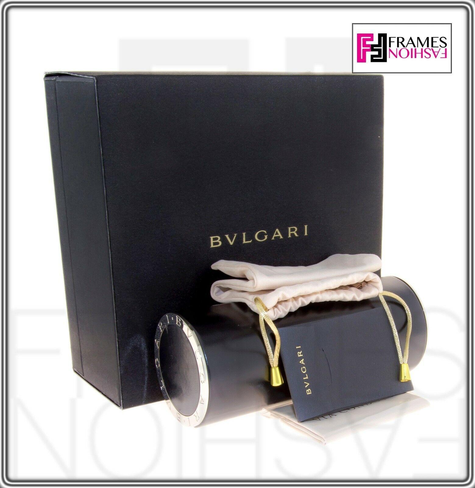 BVLGARI Le Gemme BV6078KB Black Gold 18K Plated POLARIZED Sunglasses 6078 Women image 8