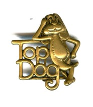 Vintage Danecraft Top Dog Pin / Brooch p5977 - $2.99