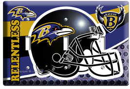 BALTIMORE RAVENS FOOTBALL TEAM 3 GANG LIGHT SWITCH WALL PLATE MANCAVE RO... - $16.19