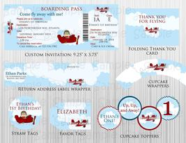 Printable Airplane Birthday, Baby Shower Party Package: Decorations, Custom - $20.00