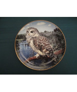BARRED OWL collector plate ON THE LOOKOUT Trevor Boyer OWLS Danbury Mint - $19.95
