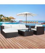 6 PC Outdoor Patio PE Garden Wicker Furniture Rattan Sectional Sofa Set ... - $599.99