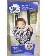 Evenflo ExerSaucer Star Power Baby Doorway Jumper Grey white Black Open box - $34.60