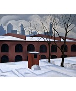 View from Brooklyn Painting by George Copeland Ault Art Reproduction - $32.99+