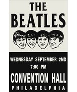 The Beatles Philadelphia Convention Center Concert Stand-up Display - Re... - $15.99