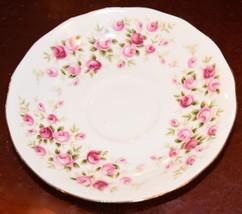 SAUCER ENGLAND FINE BONE CHINA QUEEN ANNE CASCADE ROSES PINK PORCELAIN 5... - $19.99