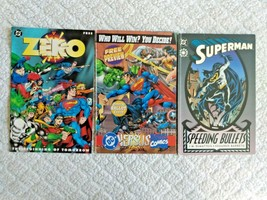 DC Superman Speeding Bullets DC Versus Marvel Comics Zero Comic Books Lot of 3 - $8.56