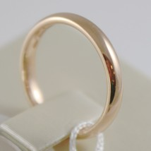 18K YELLOW GOLD WEDDING BAND UNOAERRE COMFORT RING MARRIAGE 3 MM, MADE IN ITALY image 2