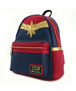Loungefly Captain Marvel Cosplay Comics Movie Vegan Book Bag Backpack MV... - $66.92