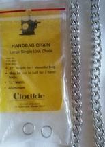 Large Single Link Handbag Chain - 27 in. - Silvertone - $7.99
