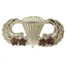 GENUINE U.S. ARMY BADGE: BASIC COMBAT PARACHUTE FOURTH AWARD - MIRROR FI... - $15.82
