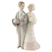 "Lladro ""Bride & Groom"" #4808 Couple Getting Married Good Condition Retir... - $178.20"