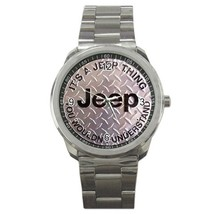 JEEP Logo Custom Sport Metal Men Watch-02 - $15.00