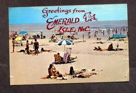 Vintage Postcard 1985 Greetings from Emerald Isle, NC Beach Sunbathers - $3.99