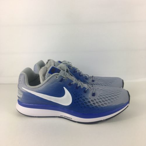 2f1a1947b99c2 Nike Air Zoom Pegasus 34 Shoes Men Size 9 Flyease Wolf Grey White Blue  Running