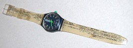 SWATCH Stop SSB100 Jess' Rush 1993 Swiss Made Wristwatch Rubber Strap Vintage image 4