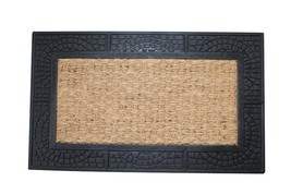 "TizTheSeasons Rubber Coir Mosaic Pattern 18"" x 30"" Welcome Door Mat - $18.99"