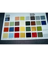 1977 Mercedes 450SL Owners sales brochure Paint color Chart w107 w116  w123 - $19.79
