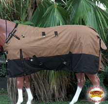 """74"""" Hilason 1200D Ripstop Waterproof Turnout Winter Horse Blanket Copper U-2-74 - $84.99"""