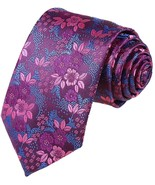 Coofandy Fashion Silk Neck Tie Classic Floral For Men (B04) - $26.76