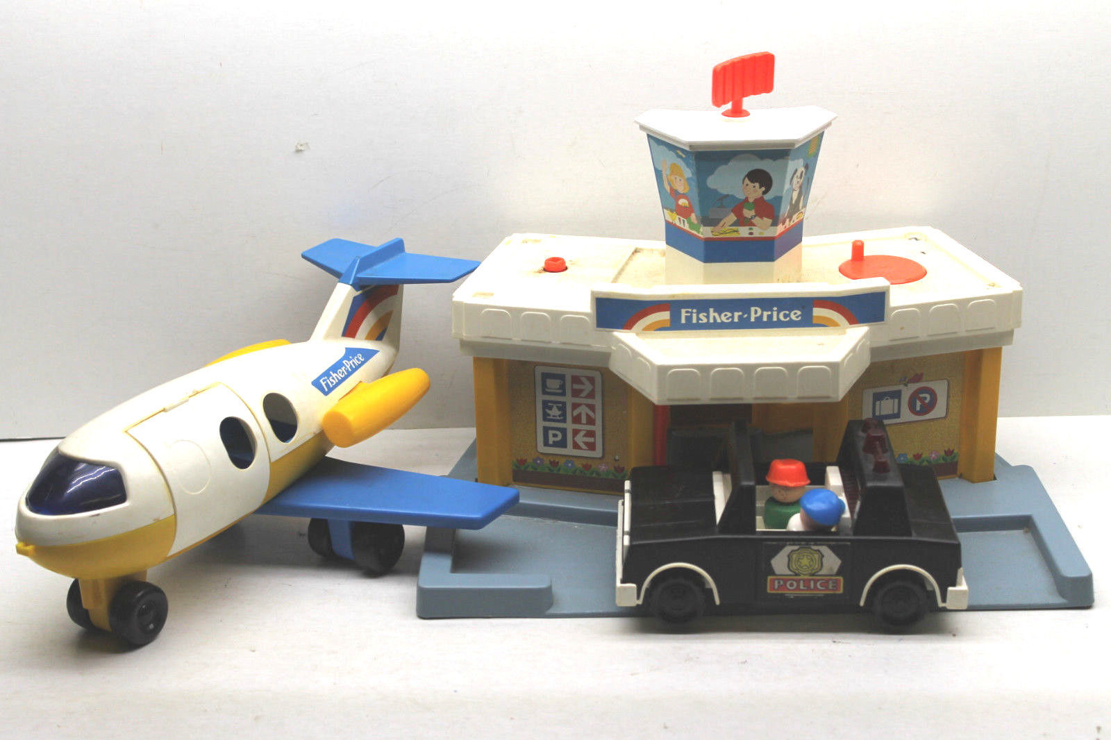 Wooden Building Toy Vintage Wooden Little People Styled Plane Rare Wooden Plane Toy