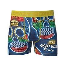 CRAZY BOXER Dia De Los Muertos Corona Skulls Boxer Briefs Men's sz L Large - $18.74