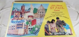 All About ST.PAUL TX Board Game Limited Edition 1982 MINNESOTA Rare COLL... - $56.43