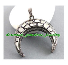 Eid-Ul-Fitr-1.70ct Rose Antique Cut Diamond Victorian Wedding 925 Silver Pendant - $466.54