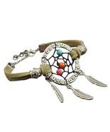 Hand Made Leather Dream Catcher Bracelet Decoration Accessory Jewelry J-232 - $8.88