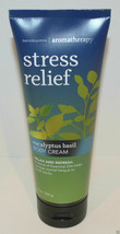 Bath & Body Works Stress Relief Eucalyptus Basil Body Cream 8 fl.oz - $16.33