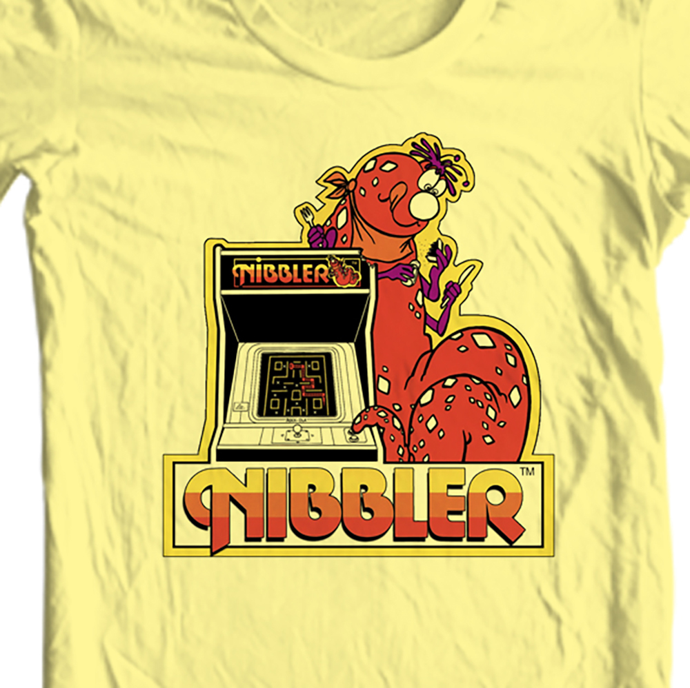 Nibbler retro vintage 80 s 70 s video arcade game t shirt for sale online old school