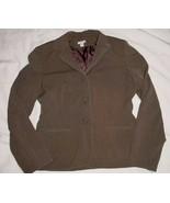 APT 9 brown Taupe STRETCH Lined Blazer Jacket Sz 6 - $4.99