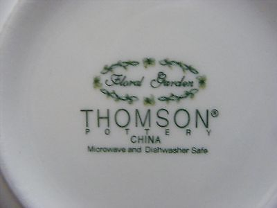 "Thomson Floral Garden 7"" Soup Bowl Yellow Daffodil Flowers"