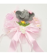Baby Shower Corsage, Pink ribbons & elephant - Mommy To Be Party Decoration - $7.91
