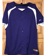Under Armour Girl's Youth Softball Jersey / Size XL / Purple Shirt / Two Button  - $2.96