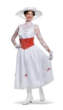 Mary Poppins Disney Classic Movie Fancy Dress Up Halloween Deluxe Adult ... - $80.53