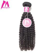 Maxglam Mongolian Virgin Hair Kinky Curly Unprocessed Natural Color Human Hair B - $345.50